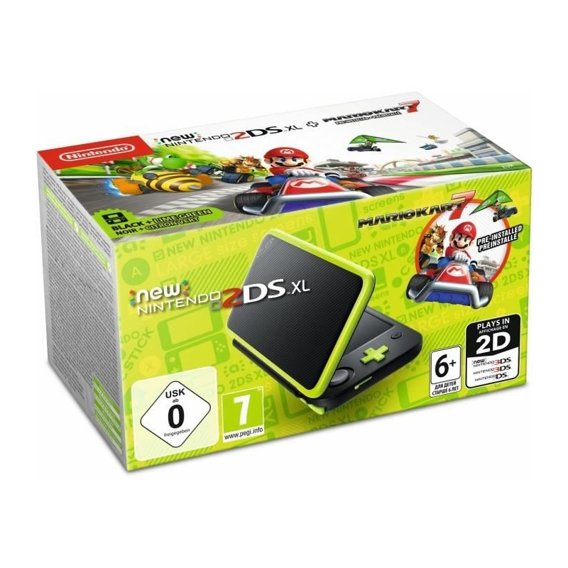 Console New Nintendo 2Ds XL [Pack Mario Kart 7]